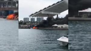 Ocho personas heridas tras la explosión de un barco en Santa Pola, Alicante