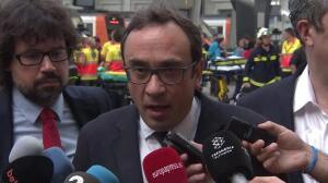 Josep Rull ofrece una valoración sobre el accidente