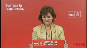 El PSOE desea suerte a Madina tras entregar acta diputado