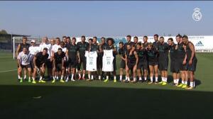 La plantilla de fútbol del Real Madrid envía un mensaje de ánimo a Sergio Llull