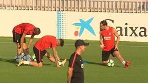 El Atlético de Madrid trabaja duro para el inicio de Liga