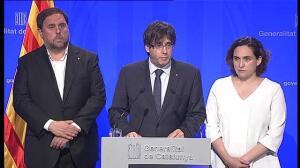 Puigdemont confirma 12 muertos y 80 ingresados, 15 de ellos graves