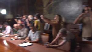 Rajoy ya está en la Delagación del Gobierno en Cataluña