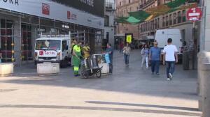 Instalan maceteros en Sol para prevenir atentados