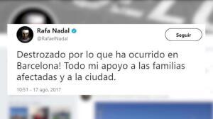 Famosos muestran sus condolencias a Barcelona