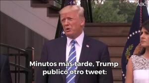 Así es la polémica condena de Trump al atentado de Barcelona