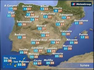 Prevision del tiempo para este lunes, 21 de agosto