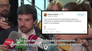 Espinar la vuelve a liar: critica que los periodistas pidan que se informe del atentado en castellan