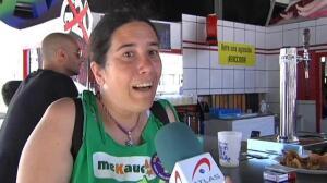 La Ertzaintza retira un Cristo colgado en una caseta de feria de las fiestas de Bilbao