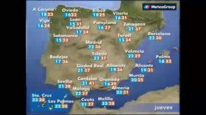 Previsión del tiempo para este jueves 24 de agosto