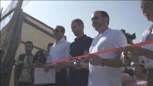 La UEFA inaugura un campo de fútbol en un campamento de refugiados de Jordania