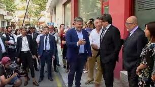 Puigdemont visita el semanario 'El Vallenc'