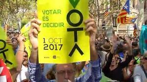 Vuelven las concentraciones pacíficas en favor del referéndum del 1-0 en Cataluña
