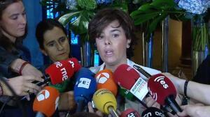 Sáenz de Santamaría: ¿Hasta cuándo, Puigdemont, vas a seguir abusando y tensando al pueblo de Cataluña?