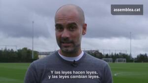 """Guardiola: """"Esto no va de independencia, va de democracia"""""""