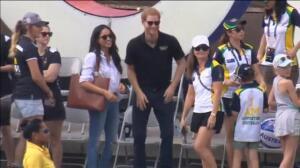Primera aparición pública del príncipe Harry y su novia Meghan Markle