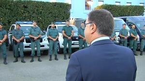 Un grupo de 29 efectivos de la Guardia Civil parte hacia Cataluña para apoyar el operativo anti-referéndum