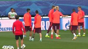 El Barça se prepara para enfrentarse mañana al Sporting de Lisboa en Champions