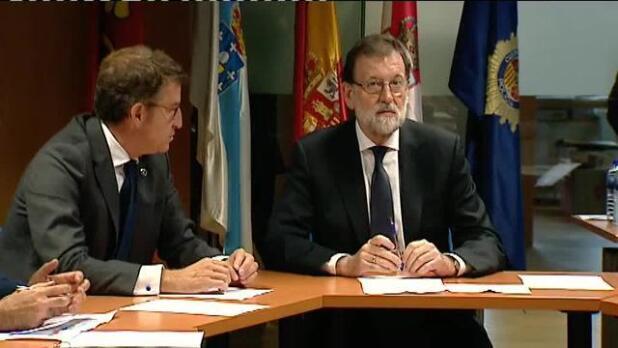 Rajoy llega a Vigo para seguir la lucha contra los incendios