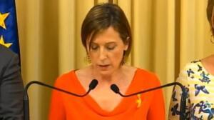Forcadell asegura que el Parlament no dará ni un paso atrás