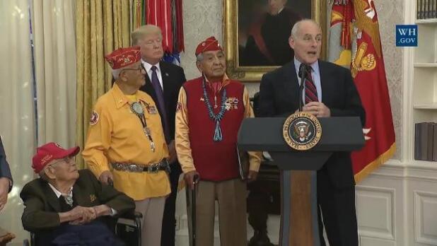 Trump llama 'Pocahontas' a la senadora Warren