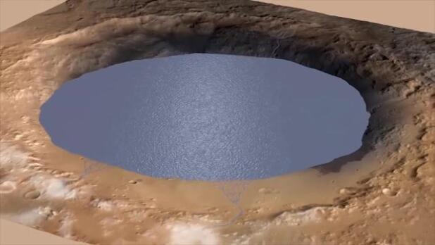Evidencias de agua aprisionada en las rocas de Marte