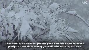 La Aemet avisa de nevadas intensas el fin de semana