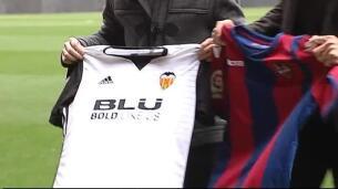 Marcelino y Muñiz, cordialidad antes del derbi en Mestalla