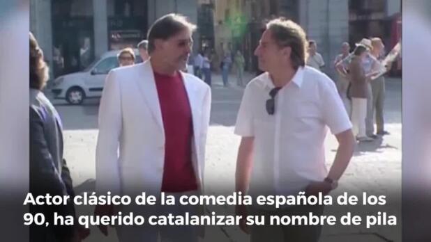 El actor Juanjo Puigcorbé cambia su nombre para parecer más catalán