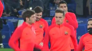 El FC Barcelona se ejercita en Stamford Bridge para preparar el partido frente al Chelsea