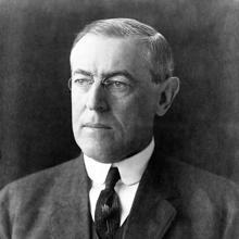 Woodrrow Wilson, presidente de los Estados Unidos y creador de los «Catorce Puntos»