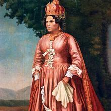 Retrato de Ranavalona I una vez convertida en monarca