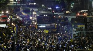 Boca, rumbo a Madrid: memorable despedida de su hinchada
