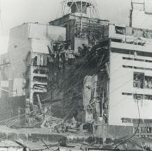 Estado de la central tras la explosión