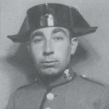 Demetrio Núñez Núñez, con el uniforme de la Guardia Civil, en 1935
